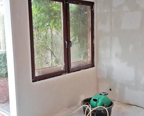 bezetten muur met raam